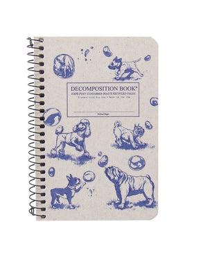 Pocket Sized Dogs and Bubbles Spiralbound Decomposition Notebook