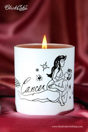 Sexy Single Zodiac Body Oil Candles - White/Vanilla - Medium
