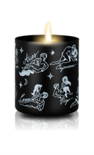 Load image into Gallery viewer, Sexy Astrology Body Oil Candles - All Signs - Black/Floral Scent - Large - Female/Male