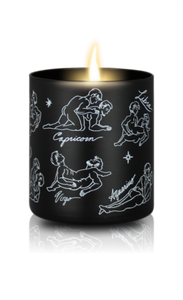 Sexy Astrology Body Oil Candles - All Signs - Black/Floral Scent - Large - Male/Male