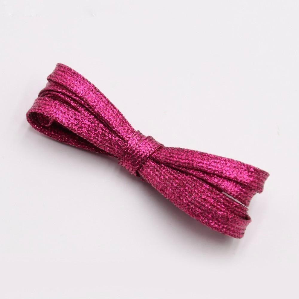 rose sparkle shoelaces from the school fundraising shop. lots of colours and lengths and glitter on offer