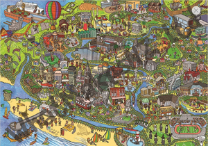 New Zealand made puzzle all about the lovely charming city of Christchurch, South Island.