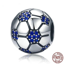 Load image into Gallery viewer, Blue Soccer Ball Charm