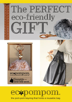 Ecopompom as the perfect eco-friendly gift, from the school fundraising shop. So cute and useful and cheap.