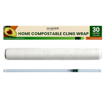 Load image into Gallery viewer, Home Compostable Cling Wrap from the school fundraising shop new Zealand showing what you get.