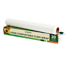 Load image into Gallery viewer, Home Compostable Cling Wrap from the school fundraising shop new Zealand with cutting tool