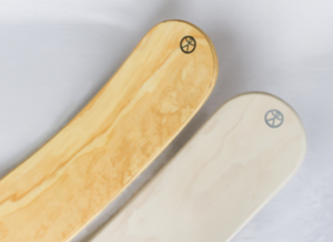 Middle Moon rockit balance board. Made in New Zealand and whitewash