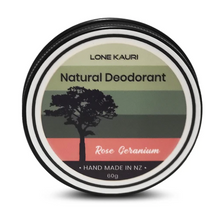 Load image into Gallery viewer, Natural Deodorant - Rose Geranium