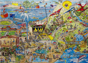 New Zealand made puzzle all about Rotorua