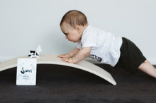 Load image into Gallery viewer, Baby Earth rockit balance board. Made in New Zealand. Whitewash