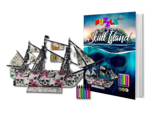 A Skull Island Puzzle book on sale from The School Fundraising Shop NZ