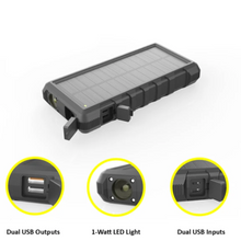 Load image into Gallery viewer, SunSaver 24K, 24,000mAh Solar Power Bank with multiple inputs and outputs