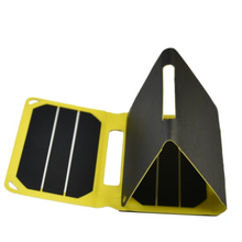 Load image into Gallery viewer, SunSaver Power Flex, 6.4-Watt Solar Charger showing the waythat it folds. for sale at the school fundraising shop