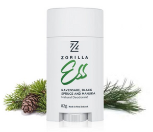 "Zorilla "" ESS "" Natural Mens Deodorant mad in New Zealand."