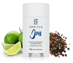 "Zorilla ""  JAY "" Natural Mens Deodorant mad in New Zealand."