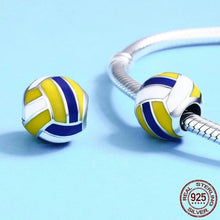 Load image into Gallery viewer, Yellow & Blue Beach Ball Charm