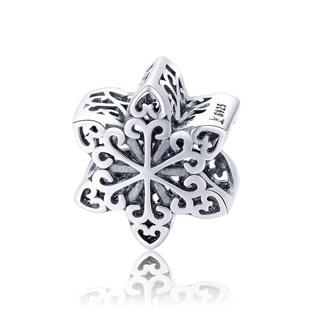 Silver & Rose Gold Snowflake Charms