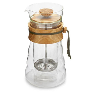 Hario Olivewood Double Wall French Press - Philip Stark Coffee