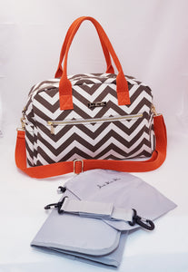 'Jessica' Classic Changing Bag (Orange)