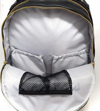 Load image into Gallery viewer, 'Pippa' Backpack Changing Bag (Black)