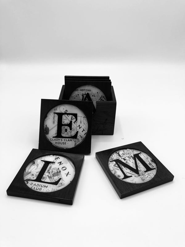 H.A.R.L.E.M. Walnut coasters
