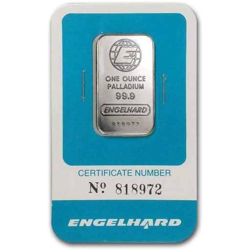 1 oz Palladium Bar - Engelhard (In Assay) - HMint Precious Metals