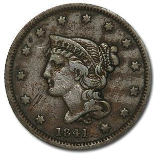 1841 Large Cent VF - HMint Precious Metals