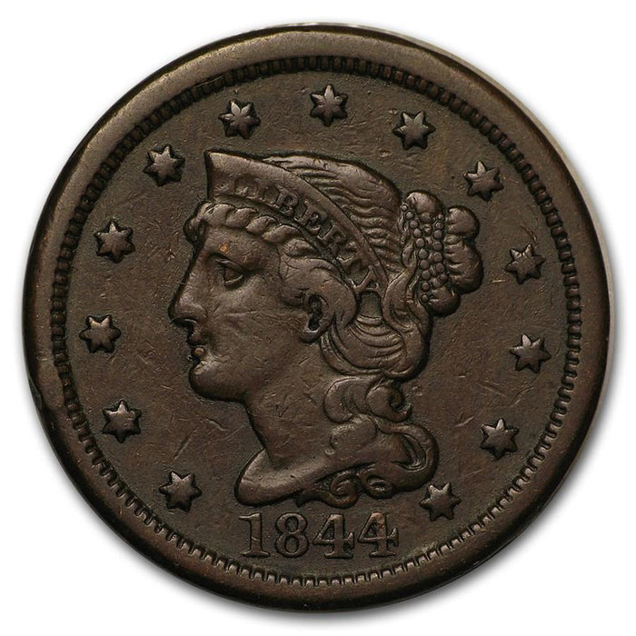 1844 Large Cent VF - HMint Precious Metals