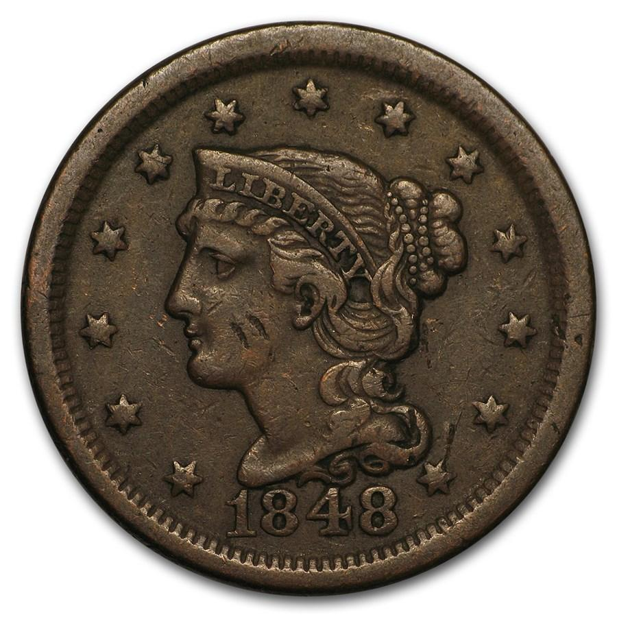 1848 Large Cent VF - HMint Precious Metals
