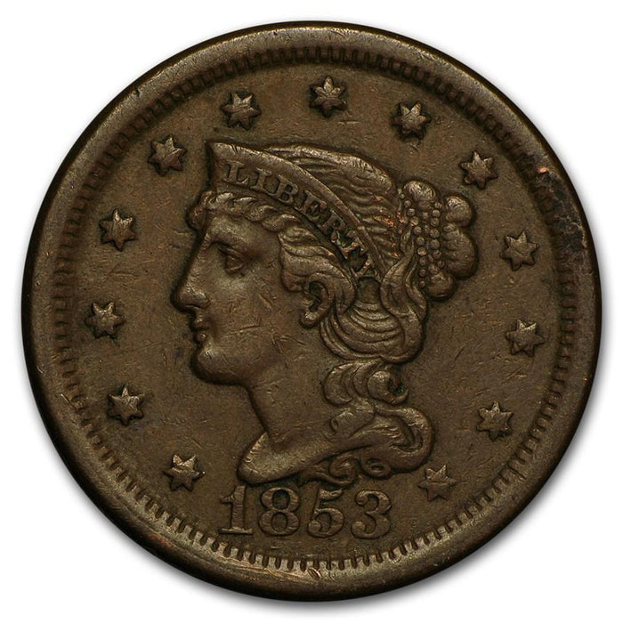 1853 Large Cent VF - HMint Precious Metals