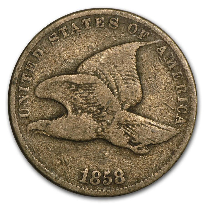 1858 Flying Eagle Cent Small Letters Fine - HMint Precious Metals