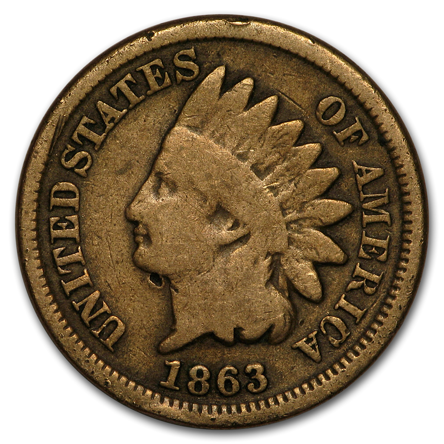1863 Indian Head Cent Good - HMint Precious Metals