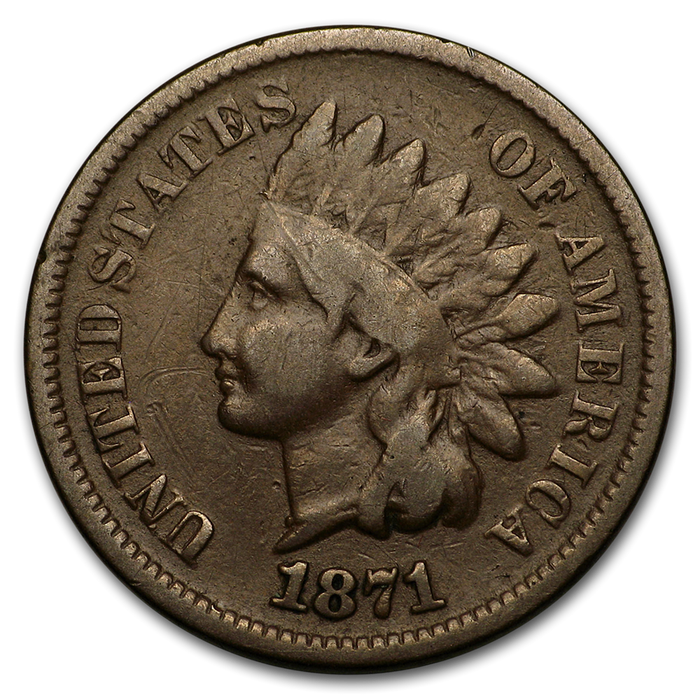 1871 Indian Head Cent VG - HMint Precious Metals