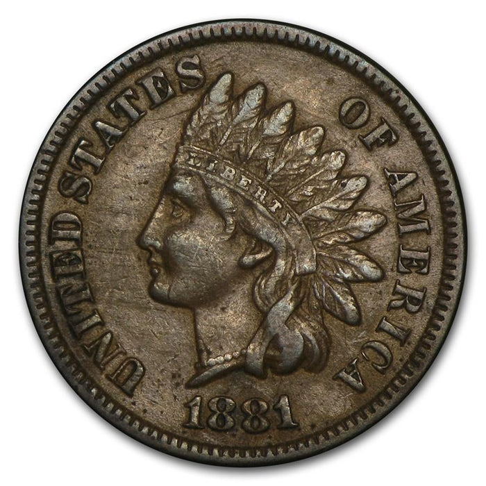 1881 Indian Head Cent XF - HMint Precious Metals