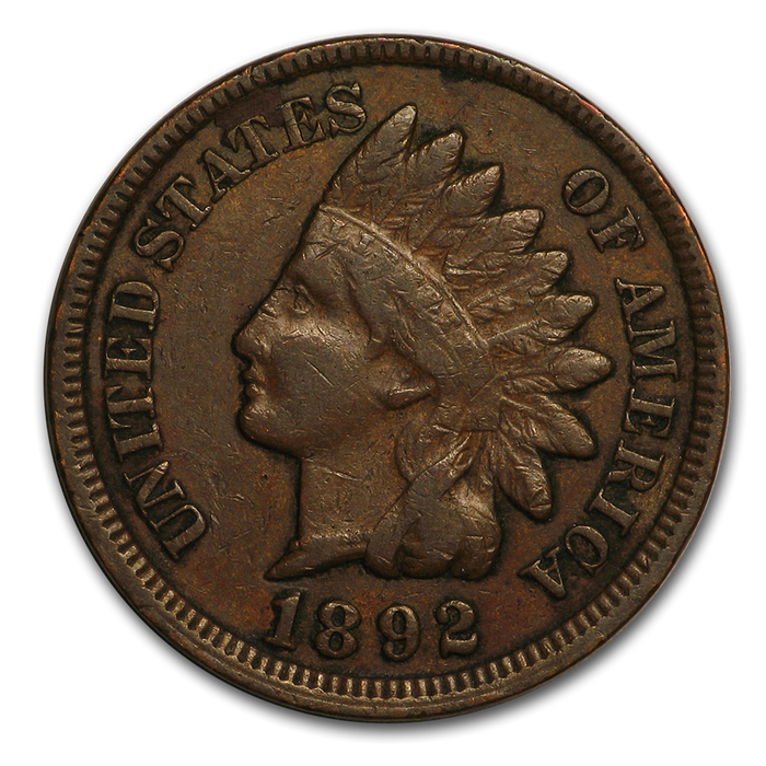 1892 Indian Head Cent Fine - HMint Precious Metals