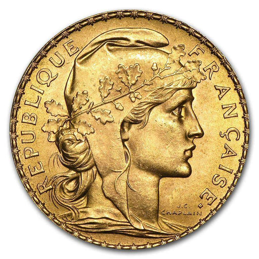 1899-1914 France Gold 20 Francs French Rooster AU (Random Year) - HMint Precious Metals