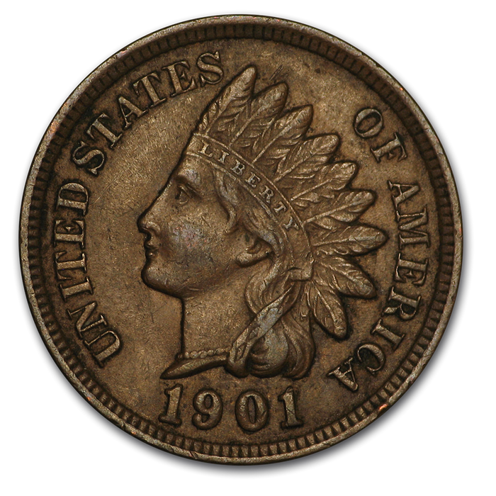 1901 Indian Head Cent AU - HMint Precious Metals