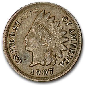 1907 Indian Head Cent XF - HMint Precious Metals