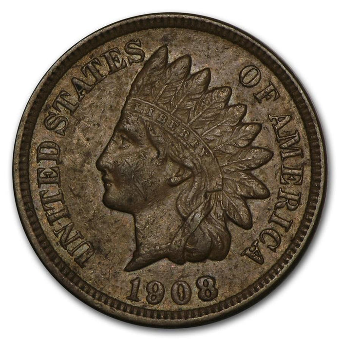 1908 Indian Head Cent AU - HMint Precious Metals
