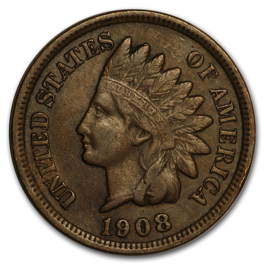 1908 Indian Head Cent XF - HMint Precious Metals