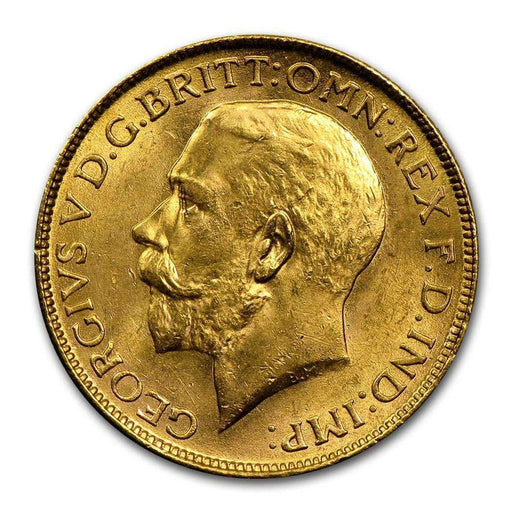 1918 India Gold Sovereign George V BU - HMint Precious Metals