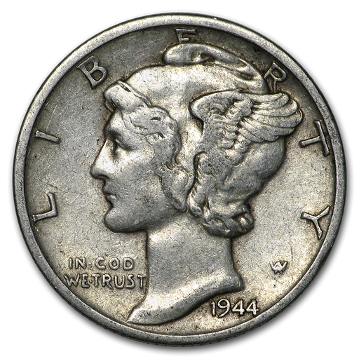 1944-S Mercury Dime Good/VF - HMint Precious Metals