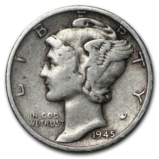 1945-S Mercury Dime Good/VF - HMint Precious Metals