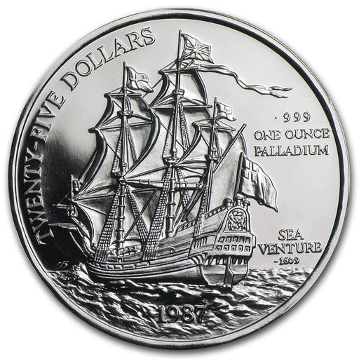 1987 Bermuda 1 oz Palladium Sea Venture Proof - HMint Precious Metals