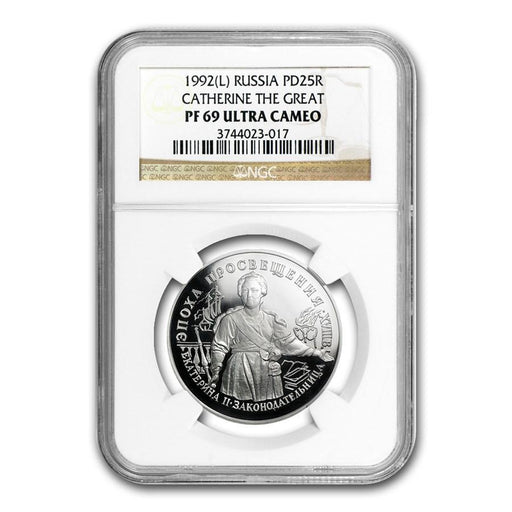 1992 Russia 1 oz Palladium Catherine The Great PF-69 NGC - HMint Precious Metals