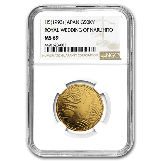 1993 Japan Gold 50K Yen Imperial Wedding MS-69 NGC - HMint Precious Metals