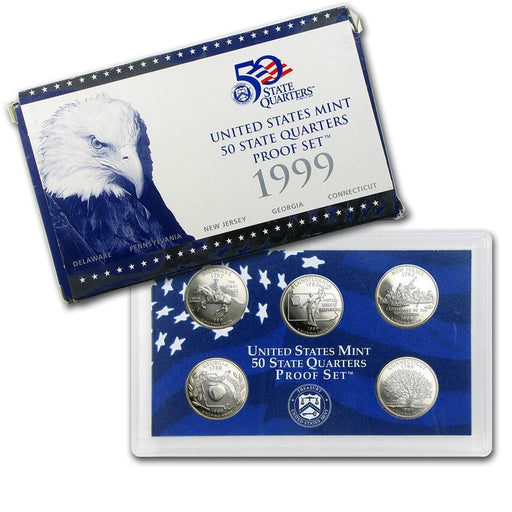 1999 United States Mint 50 State Quarters Proof Set - HMint Precious Metals