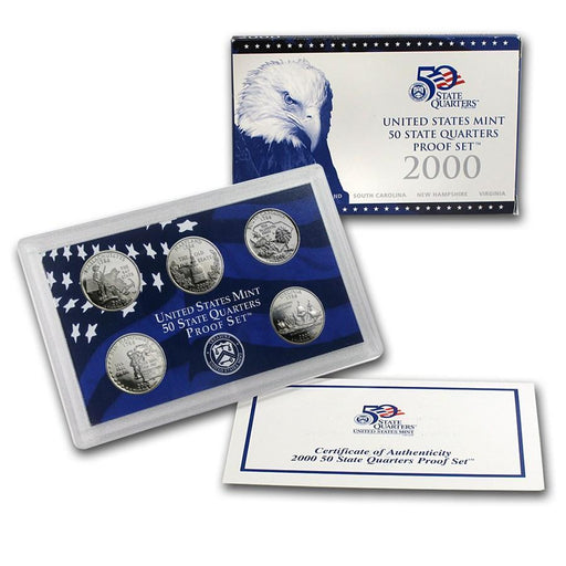 2000 United States Mint 50 State Quarters Proof Set - HMint Precious Metals