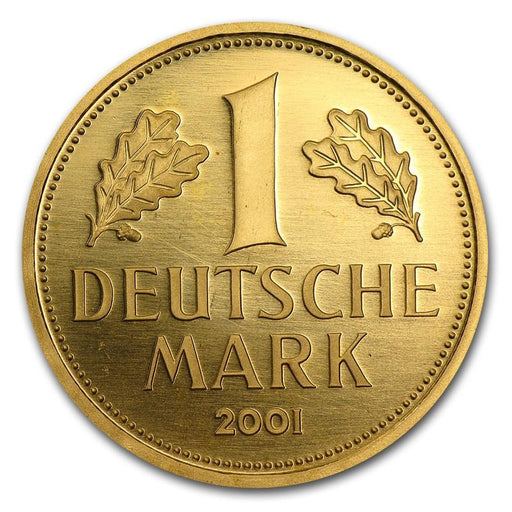 2001 Germany Gold 1 DM Farewell to the Deutsche Mark BU - HMint Precious Metals