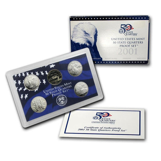 2001 United States Mint 50 State Quarters Proof Set - HMint Precious Metals